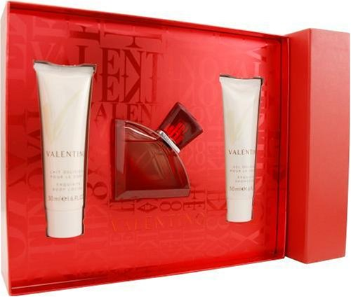 Perfume Body Valentino (Valentino V Absolu By Valentino For Women, Set-eau De Parfum Spray, 1.6-Ounce Bottle & Body Lotion, 1.7-Ounce Bottle & Shower Gel, 1.7-Ounce Bottle)