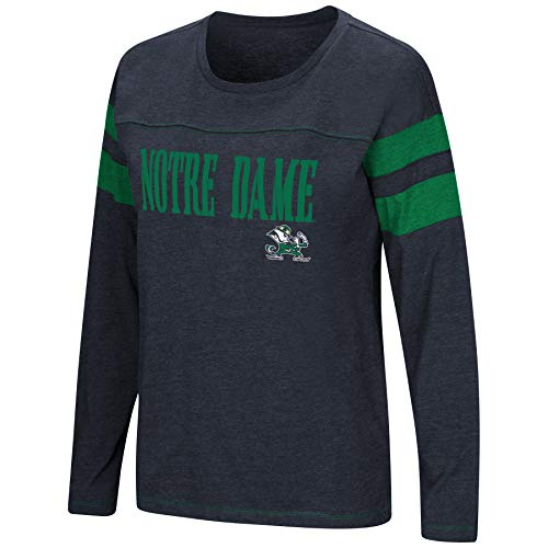 (Colosseum Women's NCAA-Game of My Life-Dolman Long Sleeve Tee-Notre Dame Fighting Irish-Navy-Small)