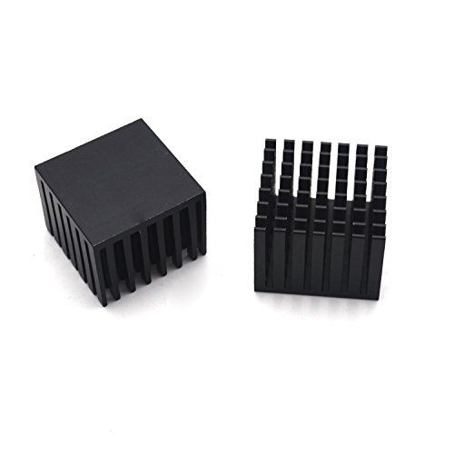 Antrader 6pcs 28 x 28 x 20mm Aluminum Heatsink Cooling Fin Black by Antrader (Image #1)