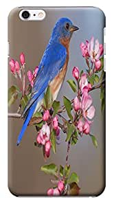 """HUAHUI Case / Cover Cute Birds Stand On The Trees Singing Cell Phone Cases For iPhone 6 (5.5"""") Black Hard Cases No.1"""