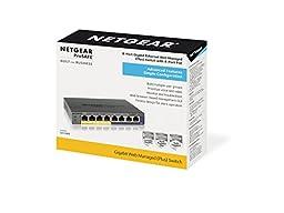 NETGEAR ProSAFE 8-Port Gigabit PoE Web Managed (Plus) Switch with 53W 4 PoE Ports (GS108PE-300NAS)