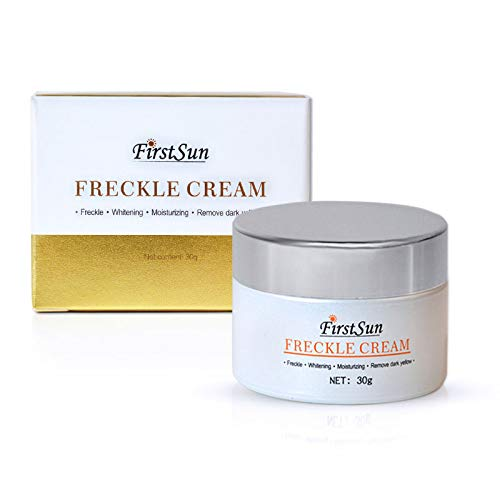 First Sun Freckle Cream Removing Dark Yellow fading Freckle Spots Inhibiting of melanin Moisturizing Skin Care Cream, 30g