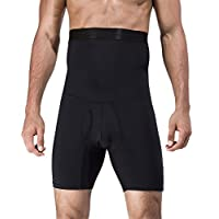 Panegy Penagy Men Body Shaper Briefs Anti-Slip Burning Belly Fat Abdomen Slimmer Quick Drying US M/Tag Asian L Black