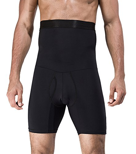 Panegy Penagy Men Body Shaper Briefs Anti-Slip Burning Belly Fat Abdomen Slimmer Quick Drying Medium Black by Panegy