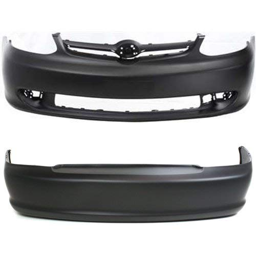 - Bumper Cover Set of 2 Compatible with Toyota Echo 2003-2005 Front and Rear Primed