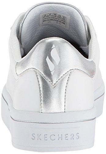 Scarpa Da Donna Hi-lite-metallizzata In Sneaker Bianco / Argento
