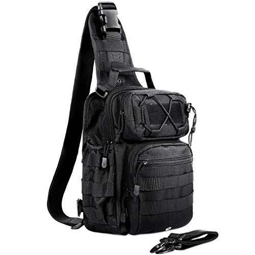 AmHoo Tactical Sling Bag Outdoor EDC Molle Waterproof Sling Backpack Chest Daypacks Shoudler Bag for Hiking,Camping and Traveling