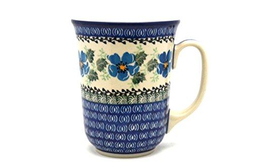 (Polish Pottery Mug - 16 oz. Bistro - Morning Glory)