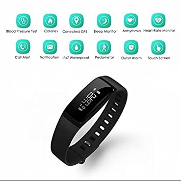 Discreta Fitness Actividad tracker Reloj, podómetro, podómetro, contador de calorías, distancia,