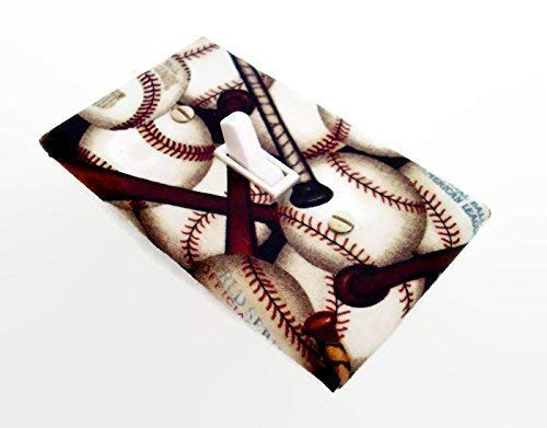 (Baseball and Bats Sports Switchplate Cover)