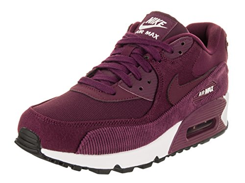 NIKE Women's Air Max 90 Leather Bordeaux/Bordeaux Black White Running Shoe 7.5 Women US by NIKE