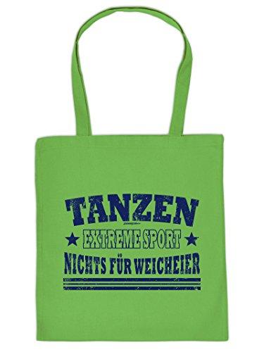 Coole Sporttasche Tanzen Motiv : Tanzen Extreme Sport .. Baumwolltasche - Farbe: hellgrün T5kqR