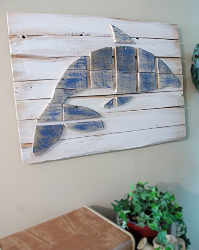 Dolphin Layered Wood Wall Art, Dolphin Decor, Nautical Art, Nautical Decor, Sofa Art, Beach Art, Dolphin Picture