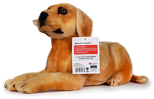 Mason the Labrador | 19 Inch Large Labrador Dog Stuffed Animal Plush | By Tiger Tale Toys (Big Plush Stuffed Dog)
