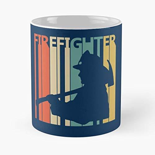 Firefighter T Shirt Funny Cute Graphic Birthday Gift - Morning Coffee Mug Ceramic Best Gift ()