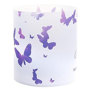 Tischkarte Windlicht Schmetterling Lila Mit Druck Platzkartchen