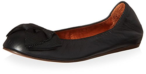 Lanvin Womens Ballerina Flat with Bow Black