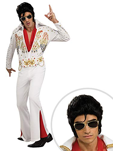 Elvis Costume Kit Deluxe Adult Small with Wig