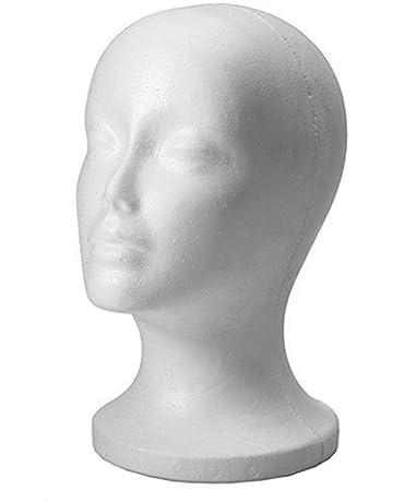 NET TOYS Testina Femminile in polistirolo Supporto per Parrucche Decorazione per vetrina