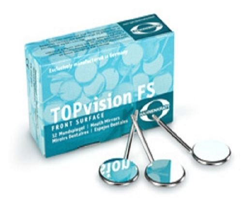 HAHNENKRATT Dental TOPvision FS-Rhodium REF 731X5 Plane CS Mouth Mirrors 12/Bx