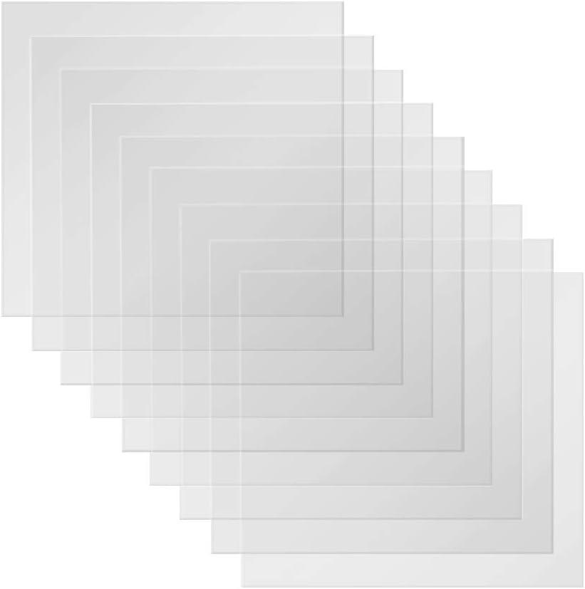 BAISDY 20PCS 5mil Clear Mylar Sheet Blank Mylar Stencil Sheets, 12 X 12 Inch