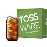 TOSSWARE 12oz Can Recyclable Plastic Cup-Set of 252-stemless, shatterproof and BPA-Free, Beer Glass