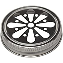 Stainless Steel Daisy Cut Lids for Mason, Ball, Canning Jars (5 Pack, Wide Mouth)