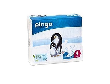 PACK 3 x 80 Pañales ecológicos para bebés PINGO. Talla 4. Envase compacto y