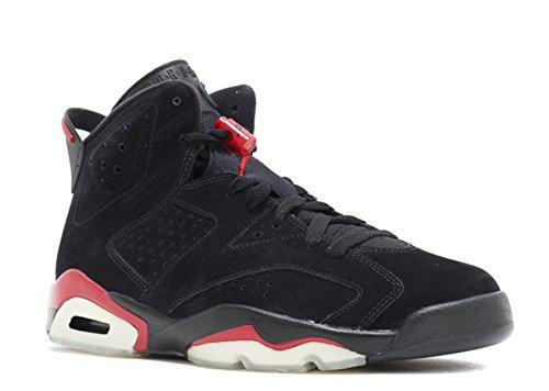 Nike Air Jordan 6 Retro Nero / Varsity Red Mens Scarpe 384664-061 Nero / Varsity Rosso