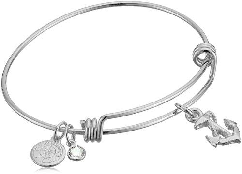 Halos & Glories Anchor Charm Bangle Bracelet