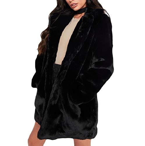 Women's Fleece Outerwear Winter Black Lightweight AngelSpace Jacket Shearling ETdwtq