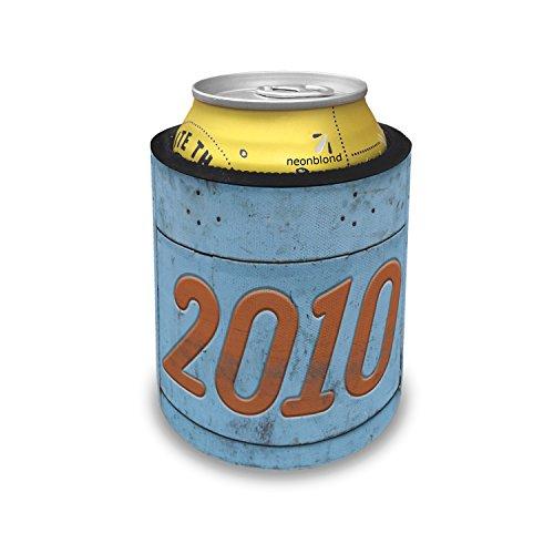 Slap Can Coolers Orange vintage looking Year 2010 Insulator Sleeve Covers ()
