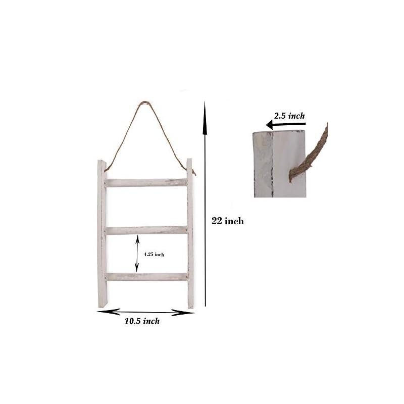 BHAVATU Farmhouse Rustic Wood Wall Mounted Towel Rack, Towel Rack for Kitchen, Bedroom, Home Decorative Storage Towel…