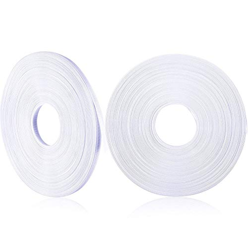 50 Yard x 1/2 Inch Polyester Boning White Boning for Sewing, Making Corsets, Nursing Caps, Bridal Gowns (1 Roll)