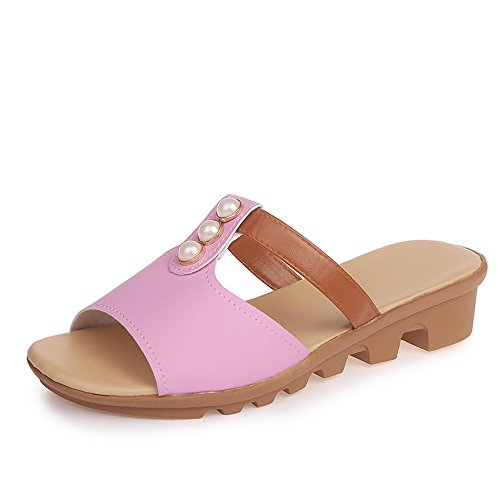 Sauvage Taille EU dérapant Chaussures Strass Plat Anti de Rose 3 Loisirs 2 Yiwuhu Couleur Maman 38 Blanc Sauvages wqza77f