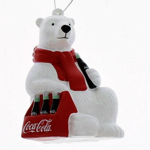Kurt Adler Coca-Cola Polar Bear with 6 Pack