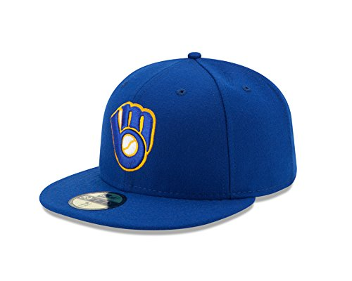 MLB Milwaukee Brewers Alternate Youth AC On Field 59Fifty Fitted Cap-658 (Milwaukee Brewers Bucket)