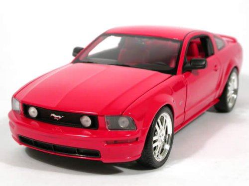 Hot Wheels 2005 Ford Mustang GT diecast Model car 1:18 Scale diecast Red (Toy Mustang Cars 2005 Model)