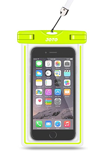 Universal Waterproof Case, JOTO Cell Phone Dry Bag for Apple iPhone 6S 6,6S Plus, 5S 5, Samsung Galaxy S6, Note 5 4, HTC LG Sony Nokia Motorola up to 6.0 diagonal (Green)