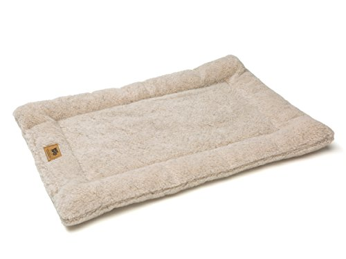 Nap Dog Crate Mat - West Paw Design Montana Nap with IntelliLoft Fiber and Fill Durable Lightweight Mat for Dogs and Cats, Made in USA, Oatmeal, X-Large