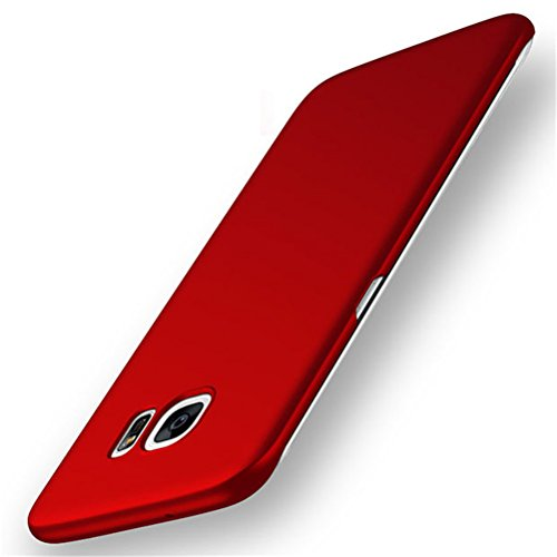 Galaxy S6 Edge Case, ACMBO Ultrathin Micro Matte [SKIN TOUCH FEEL] Anti-Fingerprints Non-slip No-fade Shockproof Hard PC Phone Case Cover For Samsung Galaxy S6 Edge G9250 G925F G925A G925V G925M, Red