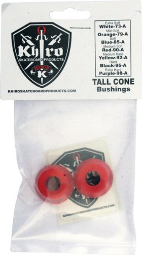(Khiro Tall Cone Bushing Set 90a Med-Soft Red )