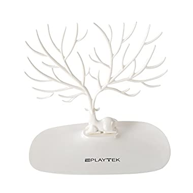 Jewelry Display Tower, EplayTek Bracelet Holder Jewelry Rack Necklace Rack for Home Use ABS Material Deer Tree(White)