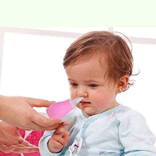 Pink Ogquaton /Baby-Nasensauger Nasensauger Mundsaugendes Nasenspr/ühger/ät Anwendbar ab 0 Jahren Manuell Praktisch