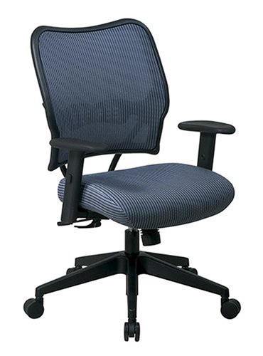 SPACE Seating Deluxe VeraFlex Fabric Seat and Back, 2-to-1 Synchro Tilt Control and 2-Way Adjustable Arms Managers Chair, Blue - Fabric 2 Seat