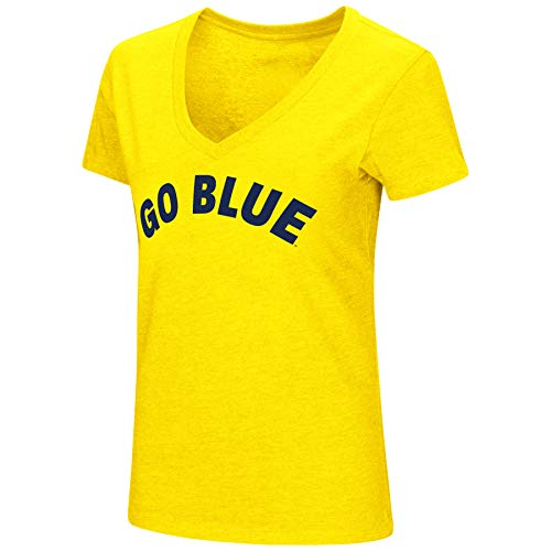 Colosseum Womens NCAA-Valuable Commodity-Dual Blend Short Sleeve T-Shirt-Michigan -