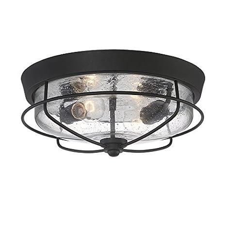 outdoor flush mount light white portfolio valdara 145in matte black outdoor flushmount light
