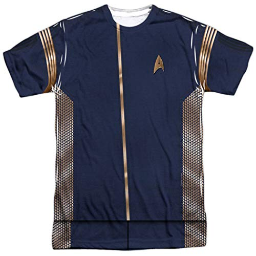 Popfunk Star Trek Discovery Command Uniform Adult Short Sleeve T Shirt (Medium) -