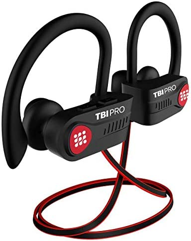 Bluetooth Headphones 10+ Hours Playtime ? Lightweight HD Stereo Wireless Sport Earphones w/Noise Cancelling Mic ? Rich Bass IPX7 Waterproof in-Ear Earbuds Powerbeats Style for Gym Running Workout