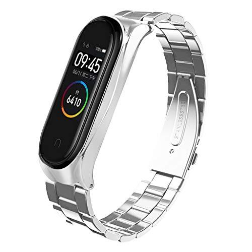 Steel Cut Out Lizard - Xindda Fashion Watch Strap, Stainless Steel Strap Band Luxury Wrist Strap Metal Wristband Watch Band for Xiaomi Mi Band 4